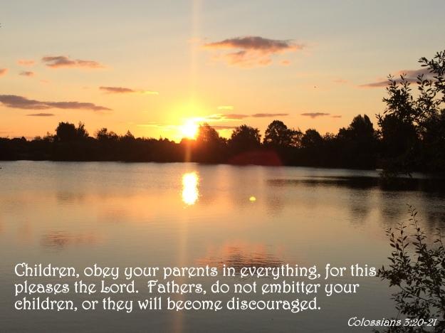 Colossians 3:20-21