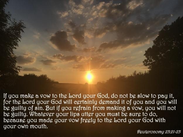 Deuteronomy 23:21-23