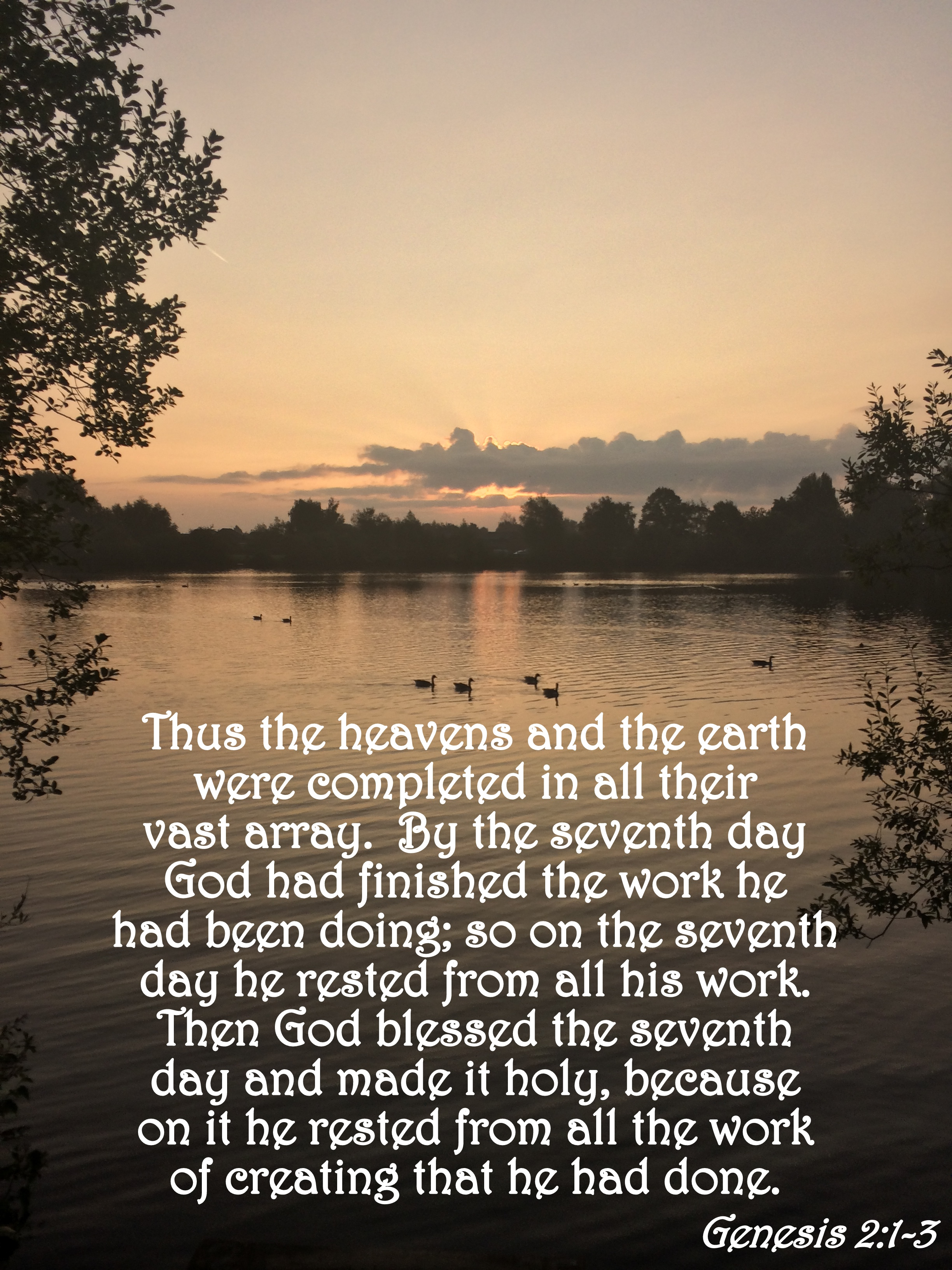 Verse of the Day – Genesis 2:1-3   The Bottom of a Bottle