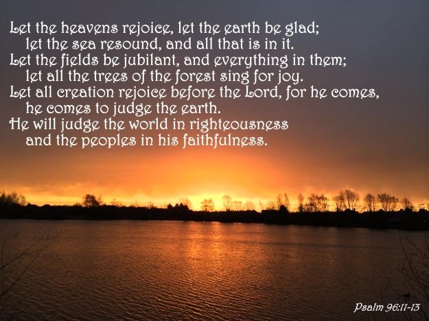Psalm 96:11-13