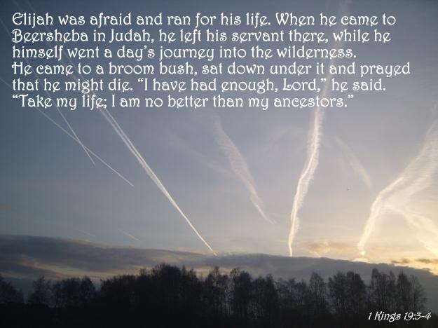 1 Kings 19:3-4