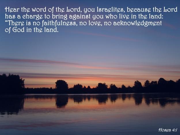 Hosea 4:1
