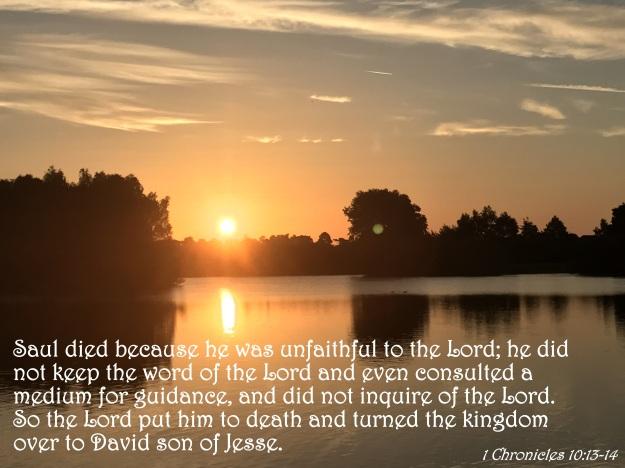 1 Chronicles 10:13-14