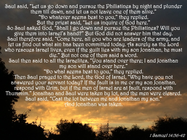1 Samuel 14:36-42