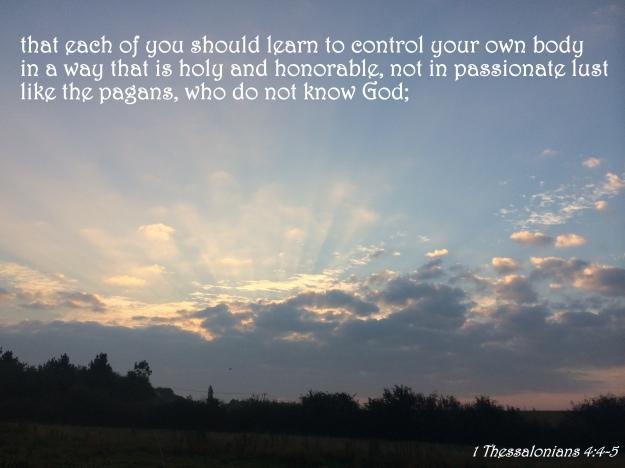 1 Thessalonians 4:4-5