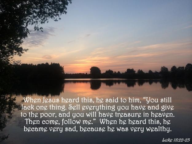 Luke 18:22-23