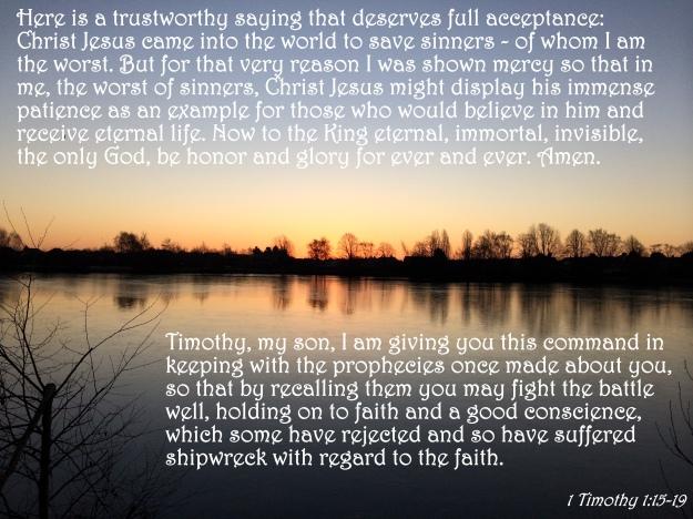 1 Timothy 1:15-19