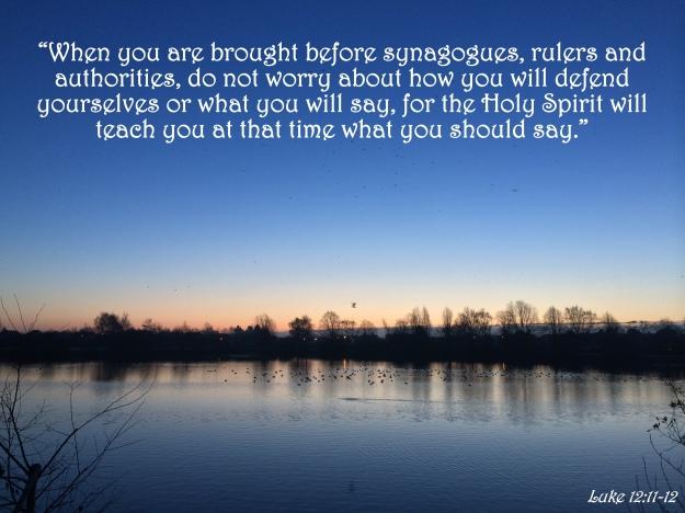 Luke 12:11-12